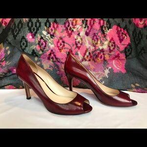 PRADA | Red Peep-toe Heels